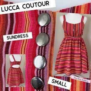 Lucca Couture Dress Sundress size S Striped
